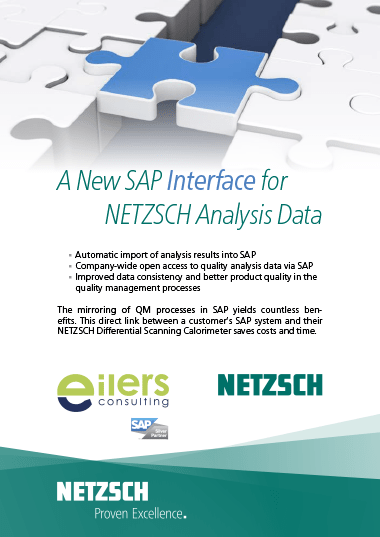 SAP Interface for NETSCH Analysis Data